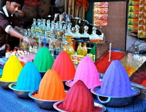 Colours for Holi & Indian Perfumes