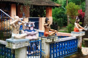 House in Goa depicting Yogasanas
