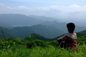 A Trekker Engrossed into Sheer Natural Beauty