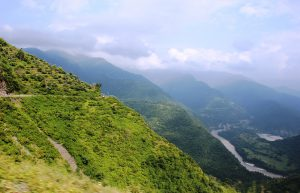 Winding Roads through Mountain