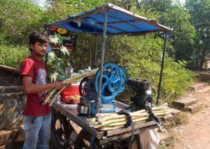 Crushed Sugarcane Juice Vendor