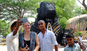 Locals Getting Photo with a Tourist in Mysore