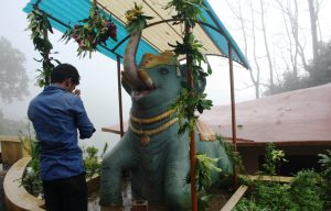Man Praying Elephant God