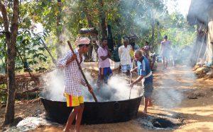 Heating Sugarcane Juice for Condensation