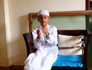 A Muslim Boy on Eid Festival