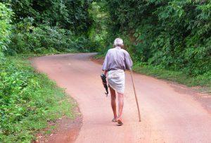 Oldman Walking Alone