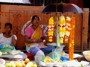 Flower Seller at a Temple in Goa
